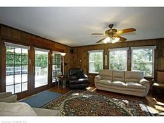 108 Skokorat, Beacon Falls, CT 06403 — Picture Perfect Ranch, 3 Beds W/ Hardwood & Ceiling Fans, Relaxing Deck Overlooking Level Yard,Master W/Full Bath & Walk In,Beautiful Remodeled Eat in Kitchen W/ Granite Counters,Large Family Room With Wood Stove, Unfinished Space in Basement & Work Area
