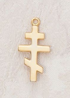 """22kt. Gold Over Sterling Silver, Gold Orthodox St. Andrew Cross, 18"""" Chain, 3/4"""" H Catholic Saint Andrew Patron Saint of Fishermen, Fishing, Gout, Scotland CR001 http://www.amazon.com/dp/B0074Q2J6G/ref=cm_sw_r_pi_dp_seSewb0NYXPQS"""