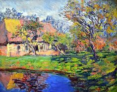 Claude Monet  'A cottage in Normandy, France