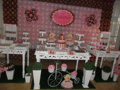 Mimos de Festa: Festa Ursinha Marrom e Rosa