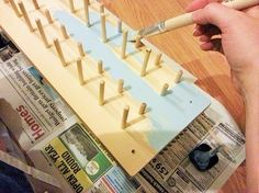 How to make a thread rack with space for matching bobbins