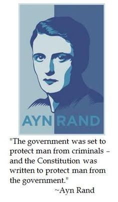 Ayn Rand on the Constitution  Now if we, as a nation, were just strong/wise/committed enough to defend the constitution against evil (did I say that out loud?), self-serving politicians who only view it as an obstacle to their own interests and twisted objectives.