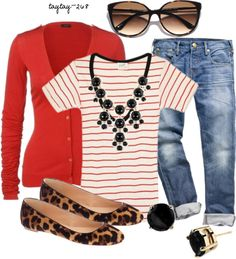"""""""Spring Fever 4: Stripes & Leopard"""" by taytay-268 on Polyvore"""