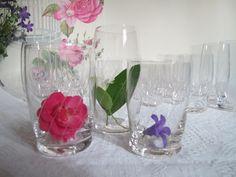 Service français 18 Verres en cristal- décor ciselé - 1950  - 50'- verrerie en parfait état - verre à vin - verre eau- coupe à champagne de la boutique CrazyFrenchVintage sur Etsy