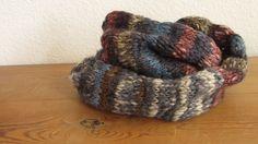Handknitted Scarf - Love the Colours!, handgestrickter Schal - Ich mag die Farben sehr!