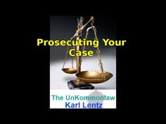 014 - Karl Lentz - Traffic Court : Legal or Lawful Traffic Court, Do Everything, In Writing, Self Defense, Make It Yourself, Youtube, Law, Books, Libros