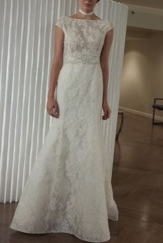 Lace modest wedding dress from Rivini