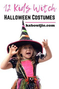 12 Kids Witch Halloween Costumes Halloween is a very popular festivity for adults and children alike, dressing up as a witch is a classic theme, here are some lovely kids witch Halloween costumes.