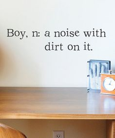 #Funny, but #true? Definition of a #Boy #Vinyl wall decal from DCWV on #zulily