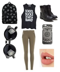 """""""school SUCKS start a BAND"""" by mariannaok ❤ liked on Polyvore featuring moda, Emilio Pucci y Charlotte Tilbury"""