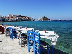 Kokkari Beautiful World, Beautiful Places, Samos Greece, Greece Islands, Cool Cafe, Holiday Destinations, Amazing Nature, Wander, Travel Inspiration