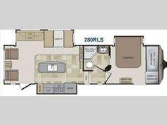 Keystone Cougar features the very best amenities like island kitchens and bunk house models. High-quality construction and innovative floor plans make Cougar a must have. Rv Floor Plans, Neo Angle Shower, Keystone Rv, Rv For Sale, Fifth Wheel, Queen Beds, How To Plan, Babe, Wheels