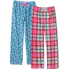 Only Girls Fleece Sleep Pants 2 Pack, Size: XL, Multicolor