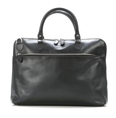 Dustin 15'' Briefcase with laptop compartment Leather black 43 cm
