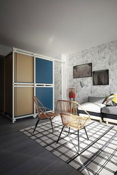 40 sq m holiday apartment in France designed by Italian firm Studio UdA