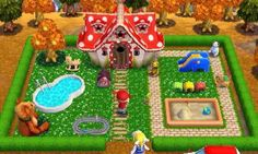 Animal Crossing: Happy Home Designer Animal Crossing Wild World, Animal Crossing Qr, Happy Home Designer, Garden Design, House Design, Just A Game, Animal Games, New Leaf, Geek Stuff