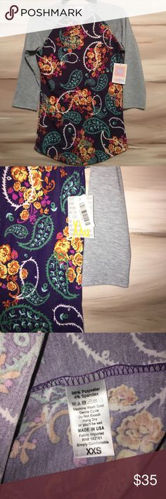 Lularoe Paisley Randy Tee! Paisley/floral design perfect for spring! LuLaRoe Tops