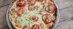 quiche di gamberi rucola e pomodorini