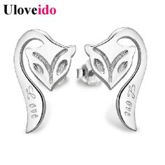 Find More Stud Earrings Information about Earings Fashion Jewelry Fox Silver Earrings Love Elegant Fashion Earrings 2016 Gifts for Women Bijouterie Brincos Uloveido R694,High Quality earrings monkey,China earings Suppliers, Cheap earrings moonstone from Uloveido Official Store on Aliexpress.com