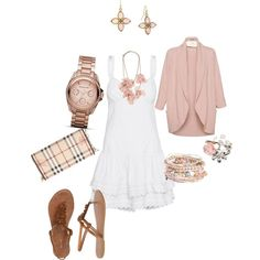 Pretty in Pale Pink, created by leslielund.polyvore.com