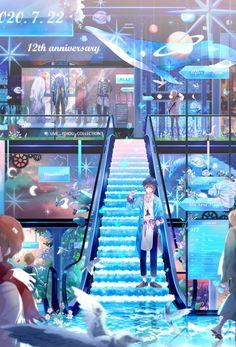 Anime City, Illustration Story, Cool Anime Pictures, Anime Fantasy, Anime Scenery, Aesthetic Backgrounds, Cute Anime Character, Kawaii Anime, Manga Anime