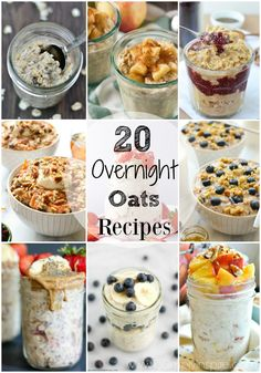 Make your breakfast healthier and easier with any of these 20 Overnight Oats Recipes. They are so versatile and delicious! Make your breakfast healthier and easier with any of these 20 Overnight Oats Recipes. They are so versatile and delicious! Rolled Oats Recipe Overnight, Overnight Oats With Yogurt, Overnight Oatmeal, Healthy Overnight Oats, Overnight Breakfast, Clean Eating Recipes, Clean Eating Snacks, Eating Healthy, Quick Oat Recipes