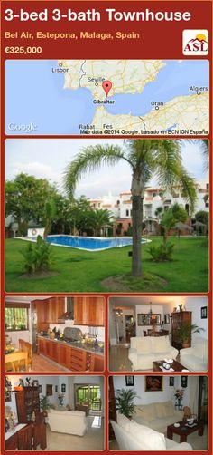 3-bed 3-bath Townhouse in Bel Air, Estepona, Malaga, Spain ►€325,000 #PropertyForSaleInSpain