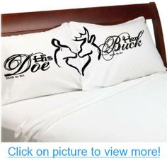 Her Buck His Doe Couples Pillow Cases Personalized Romantic Gifts, Anniversary, Engagement, Wedding, Valentines Day or Christmas Romantic #Buck #Doe #Couples #Pillow #Cases #Personalized #Romantic #Gifts #Anniversary #Engagement #Wedding #Valentines #Day #Christmas