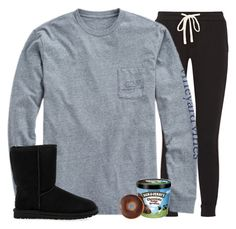 """""""Today is definitely a lazy day"""" by gourney ❤ liked on Polyvore featuring James Perse, Vineyard Vines and UGG Australia"""