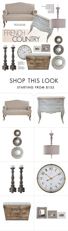 """French Country Decor"" by kathykuohome ❤ liked on Polyvore featuring interior, interiors, interior design, home, home decor, interior decorating, Verlaine, Alouette, country and Home"