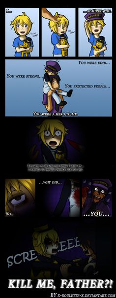 Why? [Human!Golden Freddy] by x-Roulette-x on DeviantArt<<<if this is true it would be heartbreaking ;-;