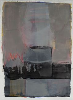 Karen Darling - Step Back, oil and cold wax on Arches oil paper, 24x32 in