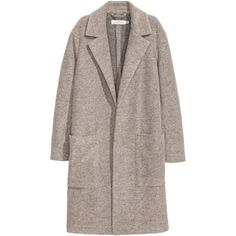 Wool-blend Coat $79.99 ($80) ❤ liked on Polyvore featuring outerwear, coats, jackets, h&m, brown coat and wool blend coat