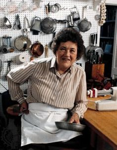 BON APPETIT AMERICA - even an old food redneck like me loved Julia Child's T.V. shows. She kept the light burning through the worst years of the bland food era.