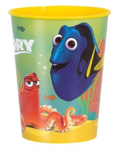 Finding Dory 12 ct 16 oz plastic cups. Perfect for use at a child's party or fill with candy or sundae toppings for party favors or for Disney Cruise fish extender gifts. #afflink #findingdory #disney Birthday Supplies, Party Supplies, Finding Dory, Plastic Cups, Party Cups, Ale, Sundae Toppings, 2nd Birthday, Birthday Ideas