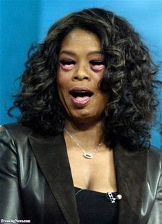 Oprah with Mouth Eyes