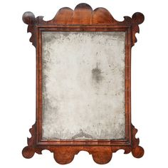 Walnut Veneered Looking-Glass, circa 1730 | From a unique collection of antique and modern more folk art at https://www.1stdibs.com/furniture/folk-art/more-folk-art/