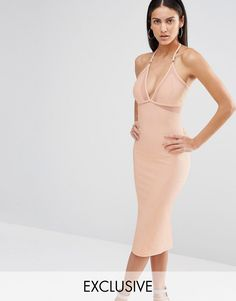 Missguided+Exclusive+Mesh+Insert+Bodycon+Dress