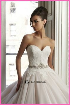 2015 New Fashion Ball Gown Lace Bodice Sweetheart Wedding Dresses for Black Women