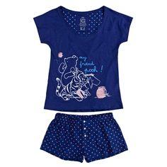 womensecret | Lots of fun | Blue Pooh | Winnie The Pooh long cotton pyjama