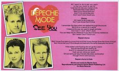 Depeche Mode, See You, 1982