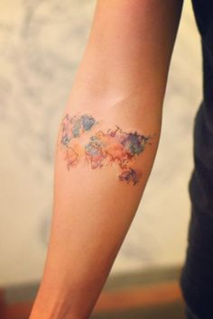 Show your love for seeing every place imaginable with map tattoos that display the beauty of the world we live in.