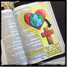 Bible Art Journaling John 3-16