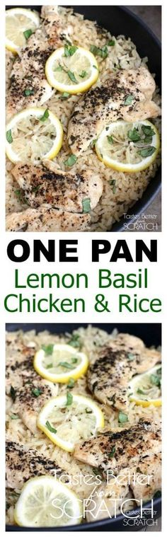 A delicious and EASY chicken and rice dinner the whole family will love! Recipe on TastesBetterFromScratch.com