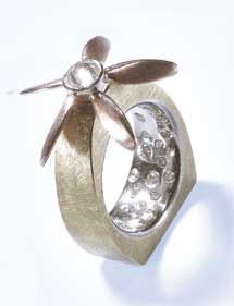 ALAN REVERE Up, Up and Away 18k rose and yellow gold, platinum and diamonds
