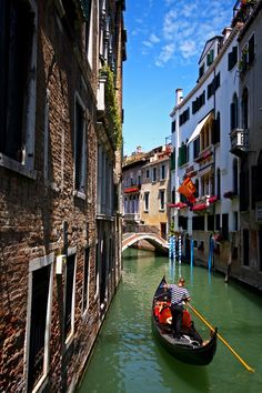 """Gondola ride on side """"rivers"""" in Venice, Italy Italy Vacation, Vacation Places, Dream Vacations, Places To Travel, Places To See, Italy Trip, Things To Do In Italy, Places In Italy, Venice Canals"""