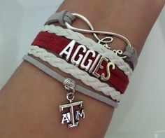 AGGIES Bracelet Texas A&M Football Texas A M by SummerWishes