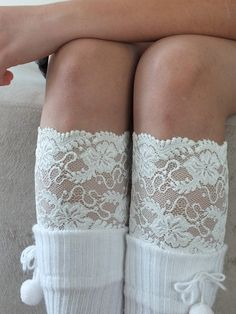 Lace Boot Cuff // Boot Socks İvory Boot Topper free by LadyVIVIENN, $15.00