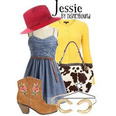 Disney inspired outfit : Jessie from Toy Story Cute Disney Outfits, Disney Themed Outfits, Disney Dresses, Cute Outfits, Disney Clothes, Moda Disney, Disneybound Outfits, Disney Inspired Fashion, Disney Fashion
