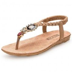 Beige Sunflower Flip Flop Sandals